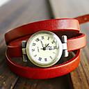 abordables Relojes de Moda-Mujer Reloj Pulsera Cuarzo Reloj Casual PU Banda Analógico Bohemio Moda Negro / Azul / Rojo - Rojo Verde Azul Un año Vida de la Batería / Jinli 377