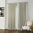 cheap Curtains Drapes-Rod Pocket Grommet Top Tab Top Double Pleat Two Panels Curtain Neoclassical, Embossed Polyester Material Blackout Curtains Drapes Home