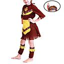 halpa Lasten asut-primitiivinen Cosplay-Asut Lasten Halloween Karnevaali Festivaali / loma Polyesteri Karnevaalipuvut / Toppi / Headwear