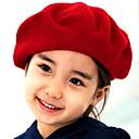 cheap Kids' Hats & Caps-Girls' Hats & Caps, Winter Others Black Fuchsia Red Blue Camel