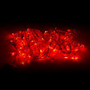 abordables Tiras de Luces LED-10m Cuerdas de Luces 100 LED Rojo 220 V
