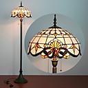 billige Tiffany Lamper-tiffany stil gulvlampe 61 tommers høy hvit glassmaleri barokk nyanse antikk base for soverom stue lesing lysbord sett