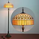 billige Hengelamper-Ger design Tiffany stil lesing gulvlampe glassmaleri harpiksglassmaleri 61 tommers høye antikke buede base belysning bord sett gaver