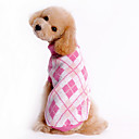 cheap Pet Christmas Costumes-Dog Sweater Dog Clothes Plaid/Check Blue Pink Costume For Pets