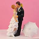 זול מזכרות מחזיקי מפתחות-קישוטים לעוגה נושא קלאסי זוג קלסי שרף חתונה עם קופסאת מתנה