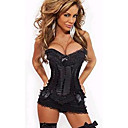 cheap Sexy Uniforms-Women's More Costumes Sex Cosplay Costume Solid Colored Skirt Corset T-Back / Lace / Satin