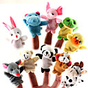 cheap Anime & Manga Dolls-For Bedtime Stories Animal Finger Puppets Puppets Cute Lovely Cartoon Textile Silicone Plush Girls' Toy Gift 10/12 pcs