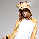 cheap Men's Slip-ons & Loafers-Adults' Kigurumi Pajamas Giraffe Onesie Pajamas Coral fleece Orange Cosplay For Men and Women Animal Sleepwear Cartoon Halloween Festival / Holiday