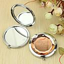 billige Sminke Sæt-Personlig gave evigt elsker Mønster krom kompakt spejl