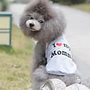 hesapli Köpek Giyimi-Kedi / Köpek Tişört Köpek Giyimi Kalp Gri Pamuk Kostüm Evcil hayvanlar için Yaz Erkek / Kadın's Doğum Dünü / Günlük / Sade