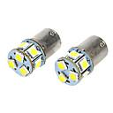 baratos Luzes de Seta para Veículos-SO.K BA15S (1156) Carro Lâmpadas 2 W 200 lm 9 LED Lâmpada de Seta For Universal