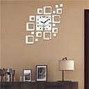 halpa Peilit Wall Clocks-Moderni / nykyaikainen Polyesteri Sisällä,AA