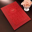 hesapli Yer Kartları ve Tutacakları-Ziyaretçi Defteri Kağıt / Diğerleri Asya Teması / Çiçek Teması / Klasik Tema İle Beyaz Fiyonk / Çiçekli Ziyaretçi Defteri