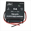 cheap Laptop Adapters-JD1205 DC 24V to 12V Car Power Supply Converter - Black