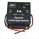 preiswerte Auto Wechselrichter-JD1205 DC 24V bis 12V Power Supply Converter - Schwarz