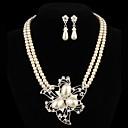 abordables Pendientes-Mujer Perla Conjunto de joyas Pendientes / Collare - Juego de Joyas Para Fiesta / Diario / Casual