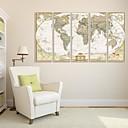 billige Veggklistremerker-Abstrakt Innrammet Lerret / Innrammet Sett Wall Art,PVC Hvit Ingen Passpartou med Frame Wall Art
