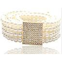 preiswerte Handschuhe-Damen Künstliche Perle Weiter Gürtel Solide / Niedlich
