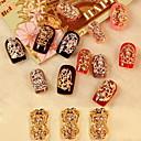 billige punktere verktøy-5PCS Zirkon Diamond Piggdekk Nail Art Dekorasjoner Riches Og Honour (Assorted Pattern)