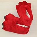 abordables Pijamas Kigurumi-Adulto Pantuflas Kigurumi Zorro Pijamas de una pieza Disfraz Poliéster / Algodón Rojo Cosplay por Ropa de Noche de los Animales Dibujos animados Víspera de Todos los Santos Festival / Celebración
