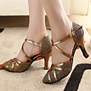 cheap Shoulder Bags-Women's Modern Shoes / Ballroom Shoes Sparkling Glitter / Leatherette Heel Customized Heel Customizable Dance Shoes Bronze / Gold