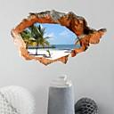 preiswerte Vollständige Nagel Aufkleber-Dekorative Wand Sticker - 3D Wand Sticker 3D Wohnzimmer / Schlafzimmer / Esszimmer / Studierzimmer / Büro / Jungen Zimmer / Waschbar / Waschbar