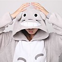 cheap Baseball Toys-Adults' Kigurumi Pajamas Cat Totoro Onesie Pajamas Coral fleece Gray Cosplay For Men and Women Animal Sleepwear Cartoon Festival / Holiday Costumes