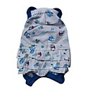 cheap Dog Clothes-Cat Dog Dress Dog Clothes Cartoon White Yellow Blue Cotton Costume For Pets