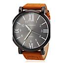 baratos Relógio Elegante-JUBAOLI Homens Relógio de Pulso Relógio Casual Couro Banda Amuleto Marrom / SSUO LR626