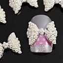 billige Strass og dekorasjoner-Smuk Neglekunst Manikyr pedikyr Metall Frukt / Blomst / Abstrakt Daglig / Tegneserie / Nail Smykker