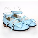 abordables Pelucas para Disfraz-Zapatos Gosurori Amaloli Lolita Clásica y Tradicional Tacón Plano Zapatos Lazo 2.5 cm CM Azul / Rosa / Fucsia Para Cuero Sintético / Cuero de Poliuretano Disfraces de Halloween