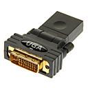 halpa VGA-hdmi naaras dvi24 + 5 uros adapteri