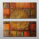 billige Abstrakte malerier-Hang malte oljemaleri Håndmalte - Abstrakt Klassisk Tradisjonell Lerret