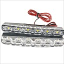 cheap Wall Stickers-2pcs Car Light Bulbs 3W SMD LED 90lm 6 LED Daytime Running Light