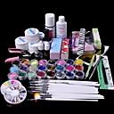 povoljno Ostali alati-61pcs glitter uv gel za čišćenje primer nail art set set