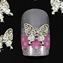 cheap Nail Glitter-10pcs beauty butterfly rhinestone jewelry accessories for finger tips nail art decoration
