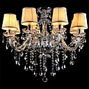 cheap Chandeliers-LWD Candle-style Chandelier Crystal, Mini Style, 90-240V / 110-120V / 220-240V Bulb Not Included / 20-30㎡ / E12 / E14