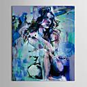 preiswerte Ölgemälde-iarts®oil Malerei Menschen hocken sexy nackte Schönheit mit gestreckten Rahmen handbemalte Leinwand