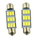 hesapli Araba İç Işıklar-SO.K 2pcs 41mm Araba Ampul 2W SMD 5630 9 İç Işıklar