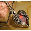 رخيصةأون قلادات-للمرأة طويل قلادات السلسلة - قلب, أجنحة الملاك قلادة مجوهرات من أجل زفاف, حزب, يوميا