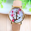 cheap Bracelet Watches-Women's Quartz Wrist Watch PU Band Flower / Fashion White / Beige