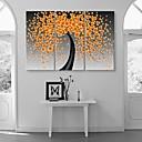 ieftine Bijuterie unghii-Imprimeu pânză întins Abstract Fantezie Botanic Trei Panouri Vertical Imprimeu Decor de perete Pagina de decorare