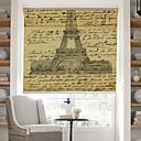 preiswerte Fenster Schürze-Retro-Wörter-Seite mit Effel Tower Hintergrund Rollo