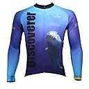 povoljno PS3 oprema-ILPALADINO Muškarci Dugih rukava Biciklistička majica - White+Sky Blue Životinja Bicikl Biciklistička majica, Quick dry, Ultraviolet