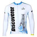ieftine Pantaloni Cycling Scurți-ILPALADINO Bărbați Manșon Lung Jerseu Cycling Bicicletă Jerseu, Keep Warm, Uscare rapidă, Rezistent la Ultraviolete