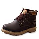 baratos Botas Masculinas-Homens Sapatos de couro Couro Outono / Inverno Conforto Botas Botas Curtas / Ankle Preto / Marrom