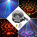 cheap Night Lights-18W RGB LED MP3 Stage Crystal Magic Ball Light EU(AC100-240V)