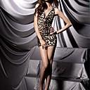 billige Taklamper-Dame Super Sexy Teddy Skjorter og kjoler Nattøy - Leopard, Trykt mønster