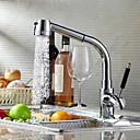 baratos Quadicópteros CR & Multirotores-Moderna Bar / Prep Montagem em Plataforma Válvula Cerâmica Uma Abertura Monocomando e Uma Abertura Cromado, Torneira de Cozinha