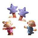 baratos Marionetes-Fantoches de dedo Fantoches Fofinho Adorável Novidades Alta qualidade Têxtil Felpudo Para Meninas Dom 4pcs